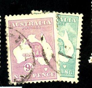 AUSTRALIA #50-1 USED FVF Cat $36