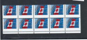 CANADA # B61 MISPERF BLOCK MNH FLAGS CAT VALUE $150
