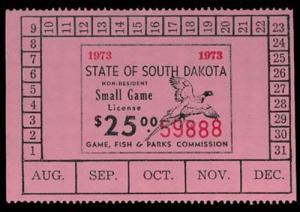 U.S. SD ST. REVS G28  Mint (ID # 29581)