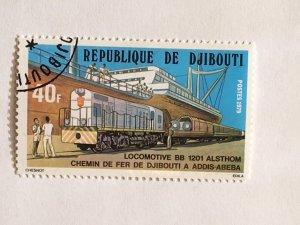 "Djibouti – 1979 – Single ""Train"" Stamp – SC# 485 - CTO"