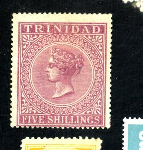 TRINIDAD #57 MINT FVF OG HR SM CREASE Cat $68