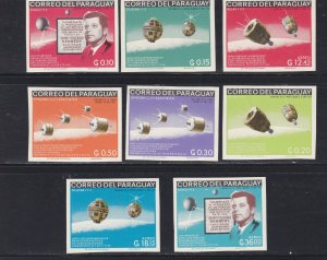 Paraguay # 994-1001, John F. Kennedy, Space IMPerf Set, NH, 1/2 Cat.
