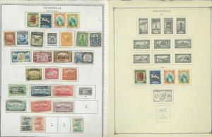 Guatemala 1939-1990 M & U Hinged on Minkus Global Pages