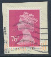 Great Britain SG U2927 Sc# MH408 Used 76p Security Machin M11L no source code