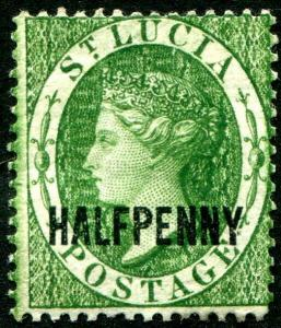 HERRICKSTAMP ST. LUCIA Sc.# 19 Mint Hinged Scott Retail $32.00