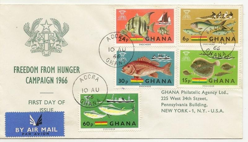 Ghana 1966 Fishes FDC