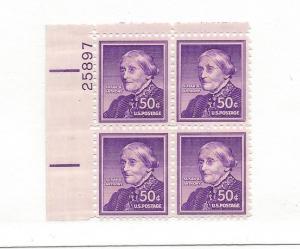 United States, 1051, Susan B. Anthony Upper Left Plt.Blk (4) #25897, MNH