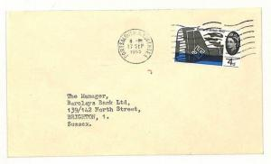 AI62 1965 GB TRANSORMA *J* Machine Sorting Trial Postmark Brighton Bank Cover