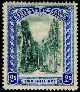 BAHAMAS SG113, 2s black & blue, LH MINT.