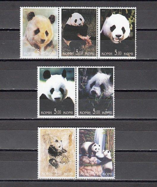 Komi, 2001 Russian Local. Panda Bear issue.