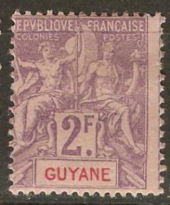 French Guiana 50 Cer 48 MHR Avg 1902 SCV $160.00