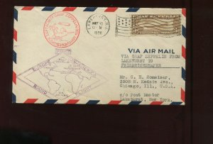 Scott C14 Graf Zeppelin Used Stamp on Nice Flight Cover (Stk C14-RC6)