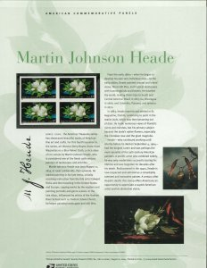 USPS COMMEMORATIVE PANEL #718 MARTIN JOHNSON HEADE #3872