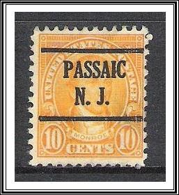 US Precancel #642 Passaic NJ Used