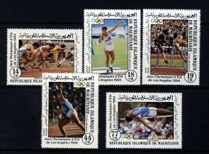 MAURITANIA 1984 The Complete Olympic Games Set SG 796 to SG 800 MNH