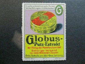 A4P4F54 Reklamemarke Globus mint no gum