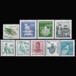 KOREA 1966 - Scott# 516-25 Defins. Set of 9 NH