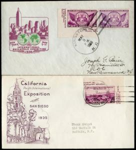 #782c (2) DIFF. FDC & (4) POST CARD BY GRIMSLAND & IOOR CACHET BN492