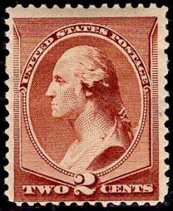 US Stamp Scott #210 MINT Hinged SCV $45