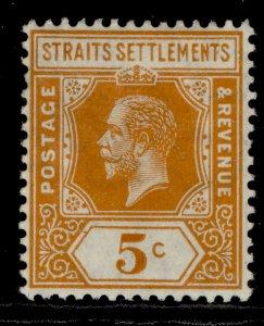 MALAYSIA - Straits Settlements GV SG199, 5c orange, LH MINT. WMK MULT CA