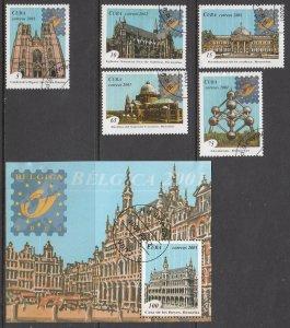 Cuba, Sc 4145-4150, CTO-H, 2001, Belgica Intl. Stamp Exhibition