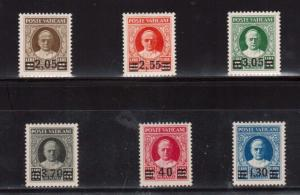 Vatican #35 - #40 VF Mint Rare Set **With Five PF Certificates**