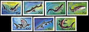 Tanzania 1136-1142, MNH, Sharks