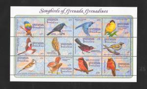 ANIMALS - GRENADA GRENADINES #1545-SONGBIRDS  MNH