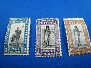 ERITREA -  SCOTT #119-121  -  MH     (wwe2)