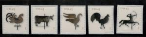 4613-17 Weather Vanes Set Of 5 Mint/nh Free Shipping (A-269)
