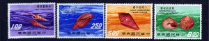 J22959 JLstamps 1971 taiwan set mnh #1698-1701 sea shells
