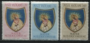Vatican part set 20 to 60 lire mint hinged