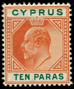 CYPRUS SG61, 10pa orange & green, NH MINT.