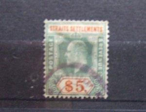 Straits EVII 1904 $5 dull green & brown orange SG138 #2