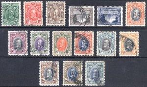 Southern Rhodesia 1931 1/2d-5/- GV Definitive Scott 16-30 SG 15-27 VFU Cat $163