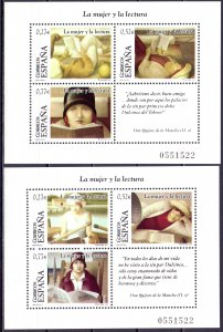 Spain. 2004. bl133,134. Women in the literature. MNH.