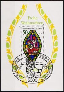 Germany. 1976 Miniature Sheet. S.G.MS1804 Fine Used