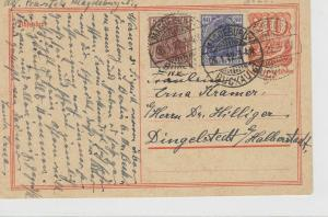 German Postal History Stamps Postcard Ref: R4868