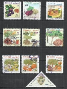 10 STAMPS AT A TIME - TUNISIA - POSTALLY USED