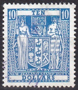 New Zealand #404D  F-VF Used CV $4.00  (Z1991)