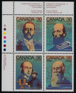 Canada 1138a TL Block MNH Science & Technology, Map