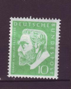 J1064 jls stamp 1955 germany mh scn 726 miller set/1