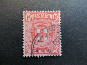 A4P21F8 Jamaica 1905-11 1d used