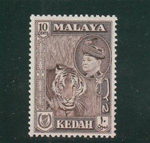 Kedah  Scott#  88  MH  (1957 Tiger)