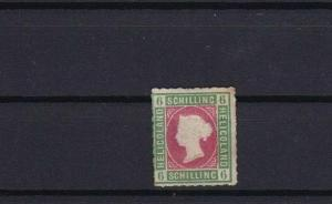 HELIGOLAND 1867 6 sch UNUSED ROULETTE STAMP CAT £275 CONDITION SHOWN REF 6168