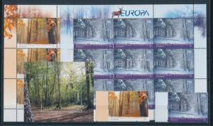 Macedonia stamp Europa CEPT Forest set + mini-sheet pair + block 2011 WS100680