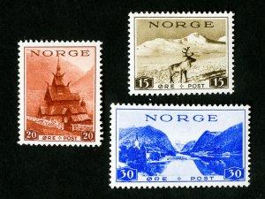Norway Stamps # 181-3 Scarce OG NH Catalog Value $40.00