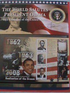 TUVALU  STAMP: 2009 SC#1084 INAUGURATION OF PRESIDENT BARACK OBAMA  -MNH STAMP