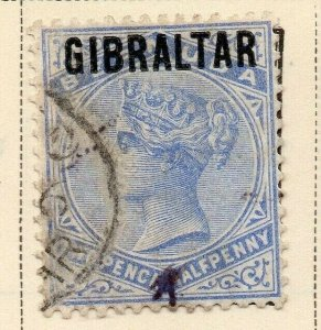 Gibraltar 1886 Early Issue Fine Used 2.5d. Optd 326901