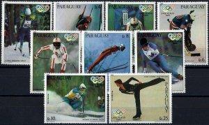 1980 Paraguay Gold Medalists of Lake Placid, complete set VFMNH! CAT 13$